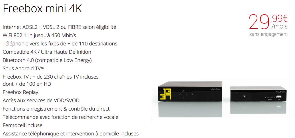 avis freebox mini 4K