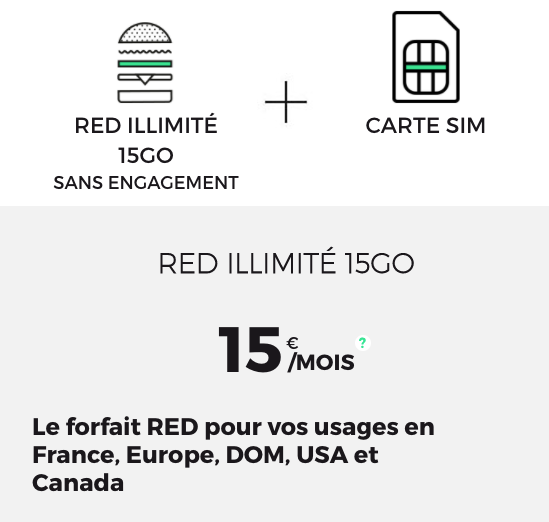 forfait red by sfr 15 go